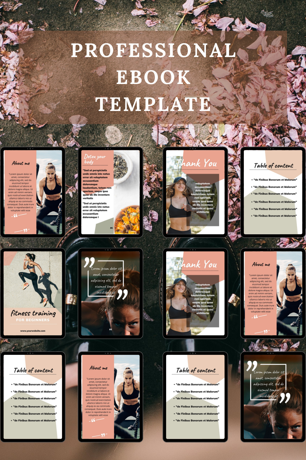 Ebook workbook template for bloggers and coaches