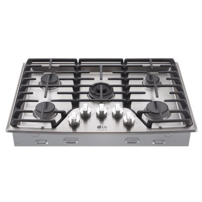 Lg Studio 30 In Gas Cooktop In Stainless Steel With 5 Burners Including Ultraheat Dual Burner Silver Gas Stove Top Built In Ovens Kitchen Stove