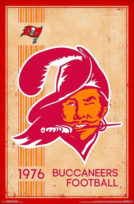 Tampa Bay Buccaneers Vintage Logo 22x34 Football Poster Tampa Bay Buccaneers Logo Tampa Bay Buccaneers Tampa Bay Bucs