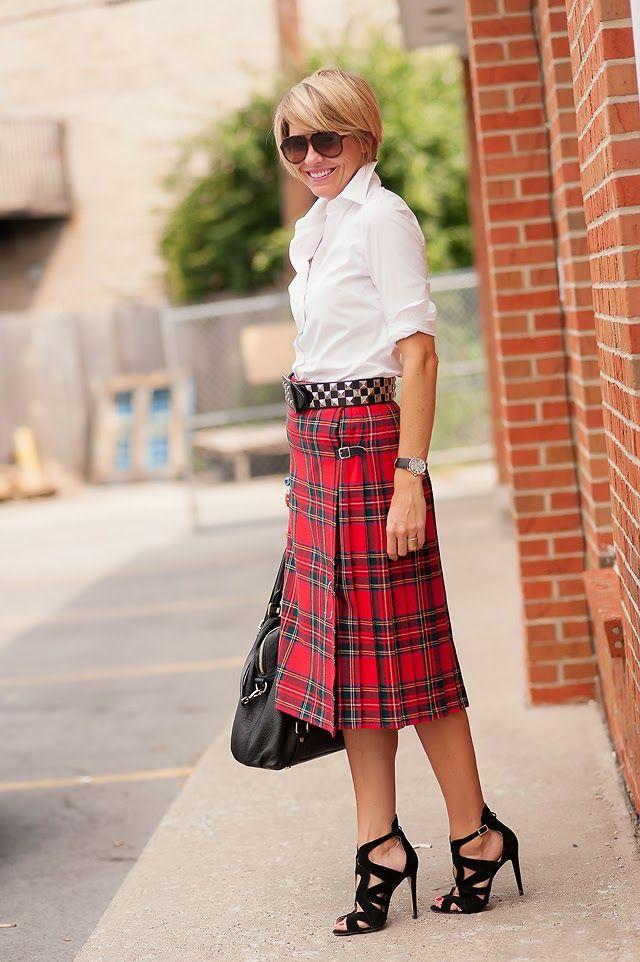 d68d1af83 classic Stewart tartan with a nod to punk. [ RoyalSilkUSA.com ] #fashion  #royal #silk