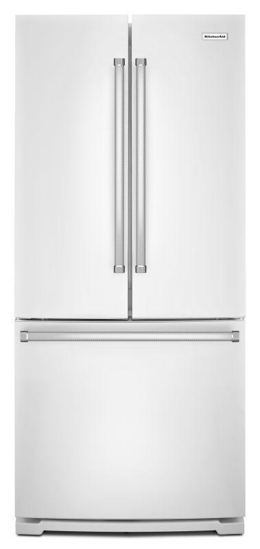 KitchenAid KRFF300E 30 Inch Wide 20 Cu. Ft. French Door Refrigerator With  Interi White Refrigerators French Door Fridge