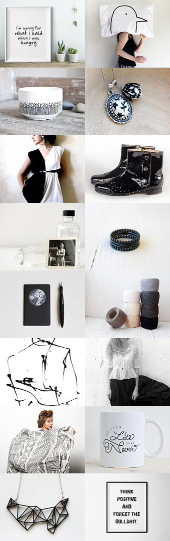 eat. drink. be merry. by Pamela Bates on Etsy--Pinned with TreasuryPin.com black and white, black, white, etsy, prints, boots, hip, fun