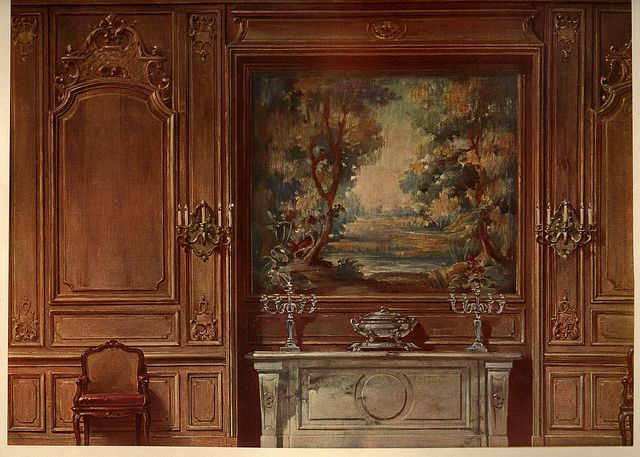 Louis XIV dining room, watercolor by architect and decorator Georges