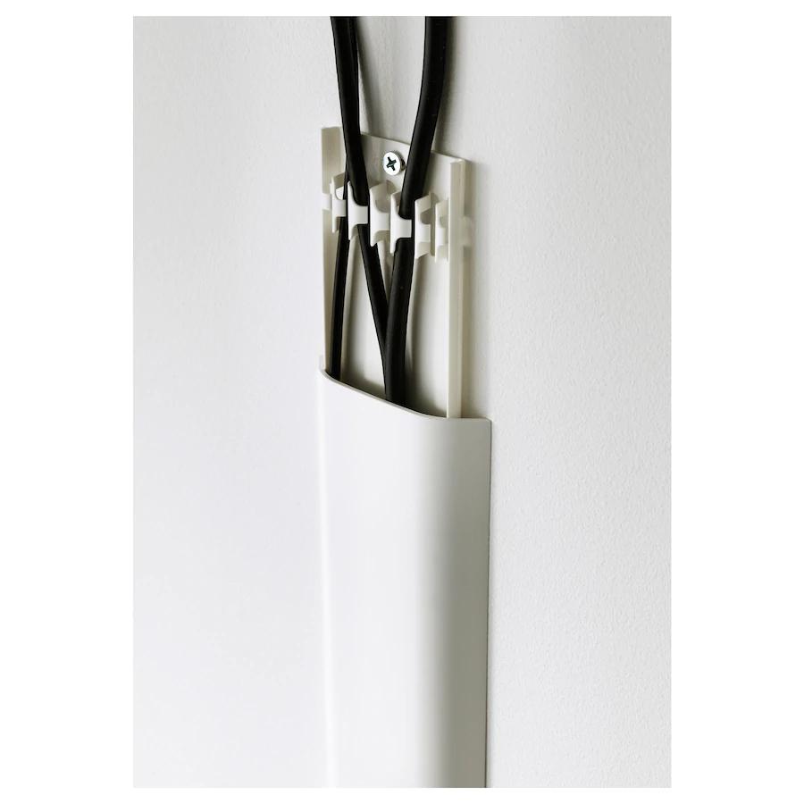 Uppleva Cache Cables Blanc Ikea En 2020 Cache Cable Cacher Les Cordons De Television Tv Monte Sur Le Mur