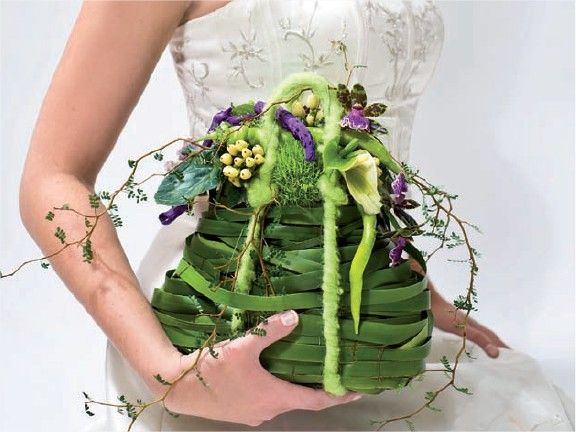 sac bouquet de mari e original accessoire floral. Black Bedroom Furniture Sets. Home Design Ideas