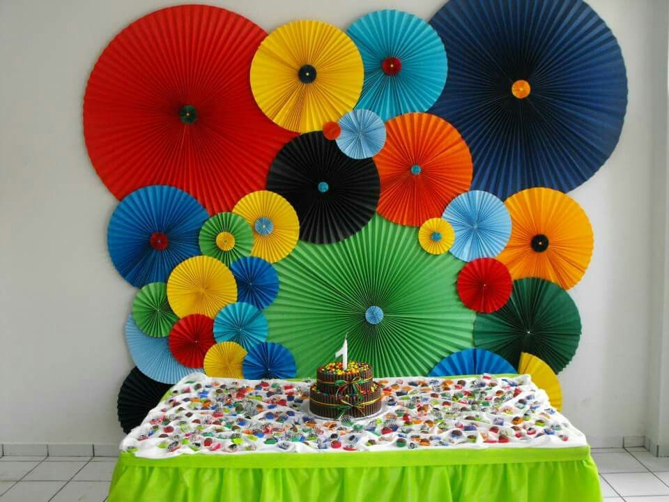 1 Aninho Do Matheus Paper Flowers Diy Paper Pinwheel Backdrop