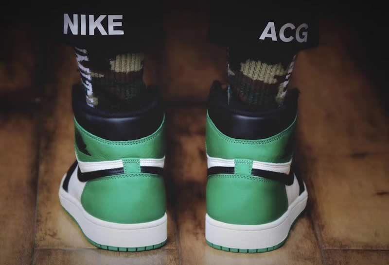 Air Jordan 1 Retro High Og Pine Green Shoes 555088 302 On Feet Heel Image Anpkick Com Air Jordans Green Shoes Jordan 1 Retro High