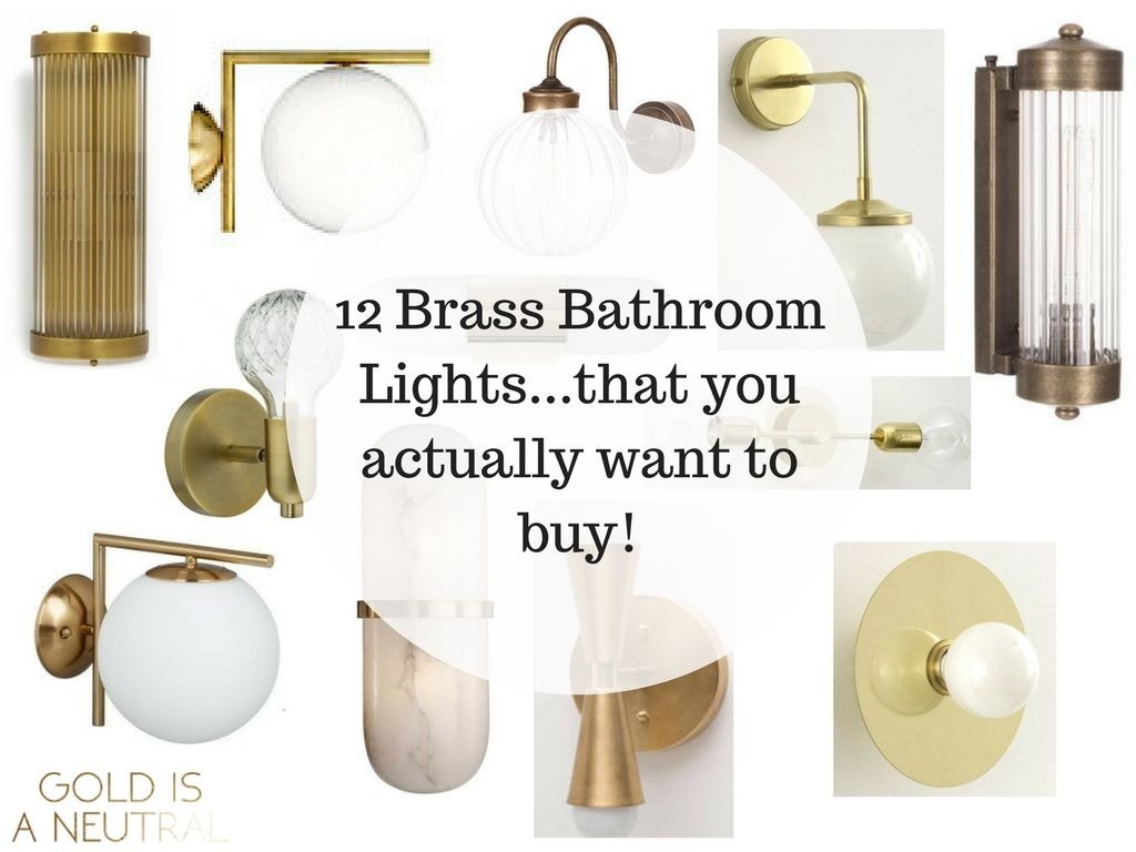 Feb Brass Bathroom Wall Lightsthat You Actually Want To Buy - High end bathroom sconces