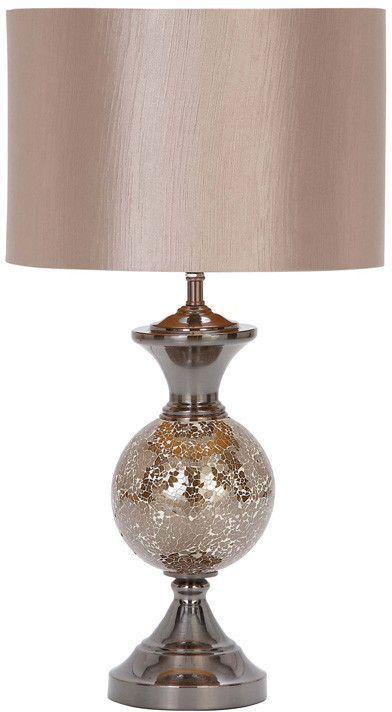"""UMA Inc Mtl Mosaic Table Lamp 25""""H"""