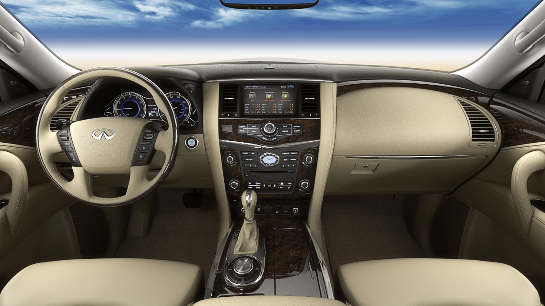 Infiniti Suv Car Beige Dashboard Interior