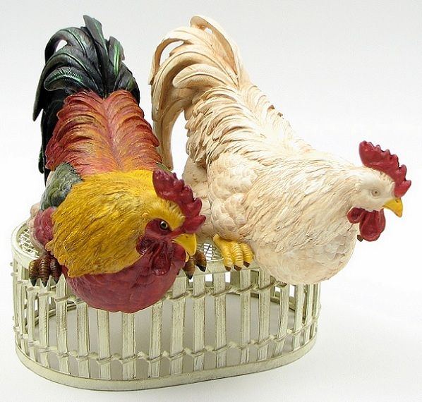 Rooster Shelf Sitters Rooster Chicken Figurines Rooster Decor