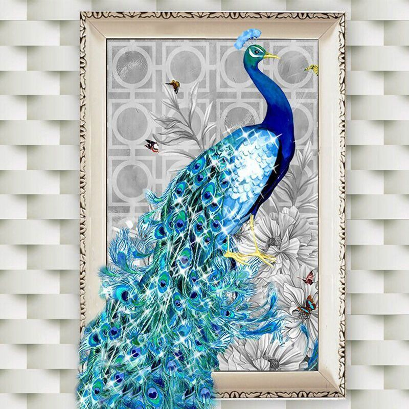 Embroidery Painting Rhinestone+Canvas Pasted DIY Diamond Painting Cross Stitch