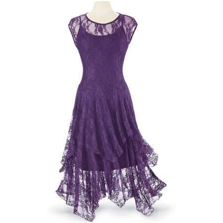 pyramid collection love story lace dress slip size 2x