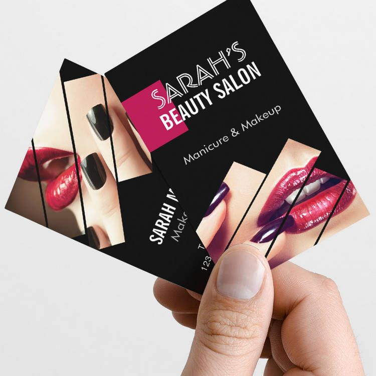 Fashionable Makeup Lips Beauty Salon Boutique Business Card ...