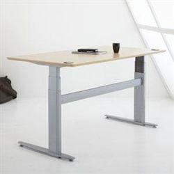 Ergo Depot 64x29 Motorized Sit Stand Desk Options Casters Beech