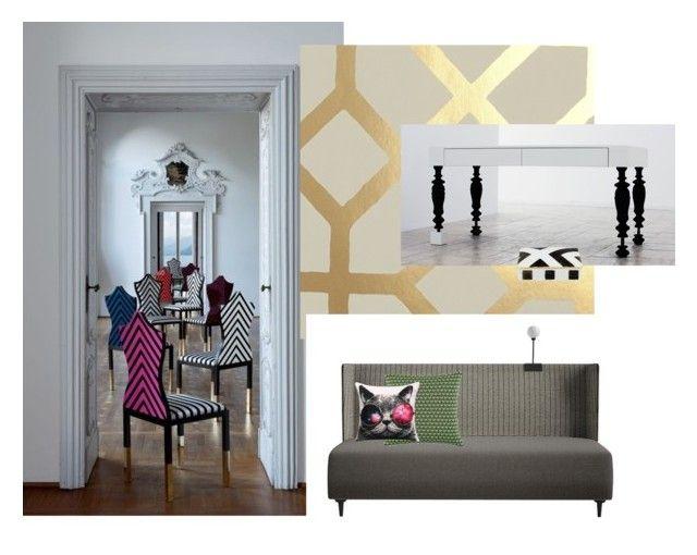 """lacroix-hannabi"" by bekokati-1 on Polyvore featuring interior, interiors, interior design, home, home decor, interior decorating, Designers Guild, Christian Lacroix and Beulah-Home"