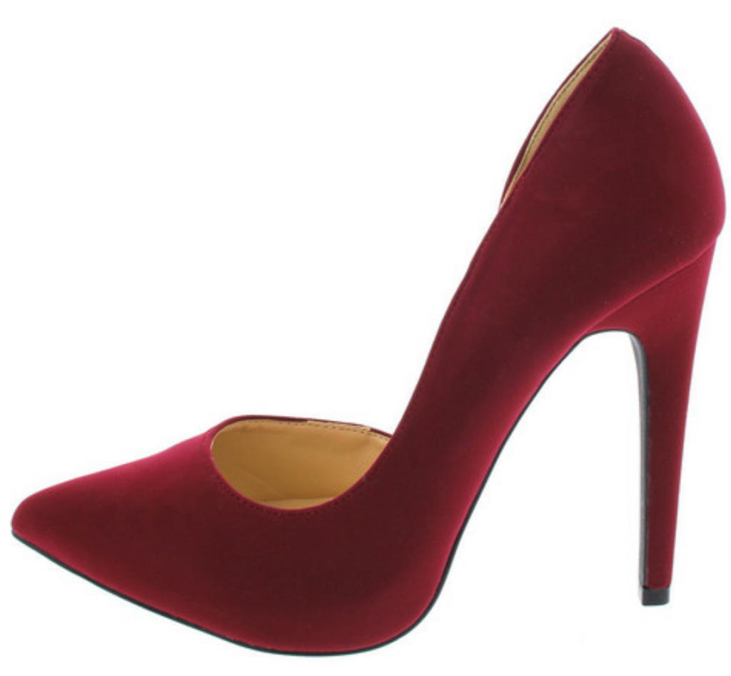 55d8c4a5edc Burgundy Pointed Toe Heel | Elements of Style | Wedding shoes heels ...
