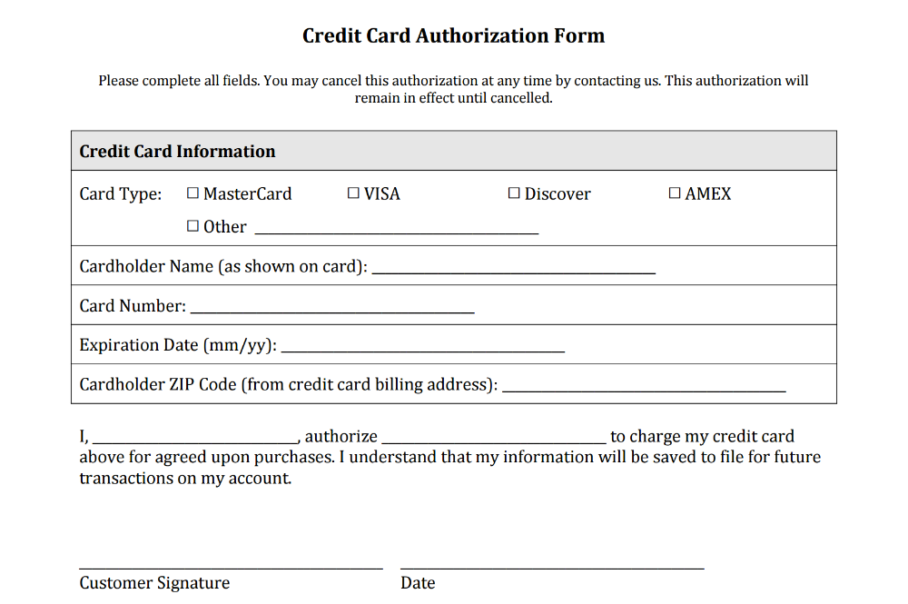 Credit Card Authorization Form Templates Download In 2020 Credit Card Statement Credit Card Application Corporate Credit Card