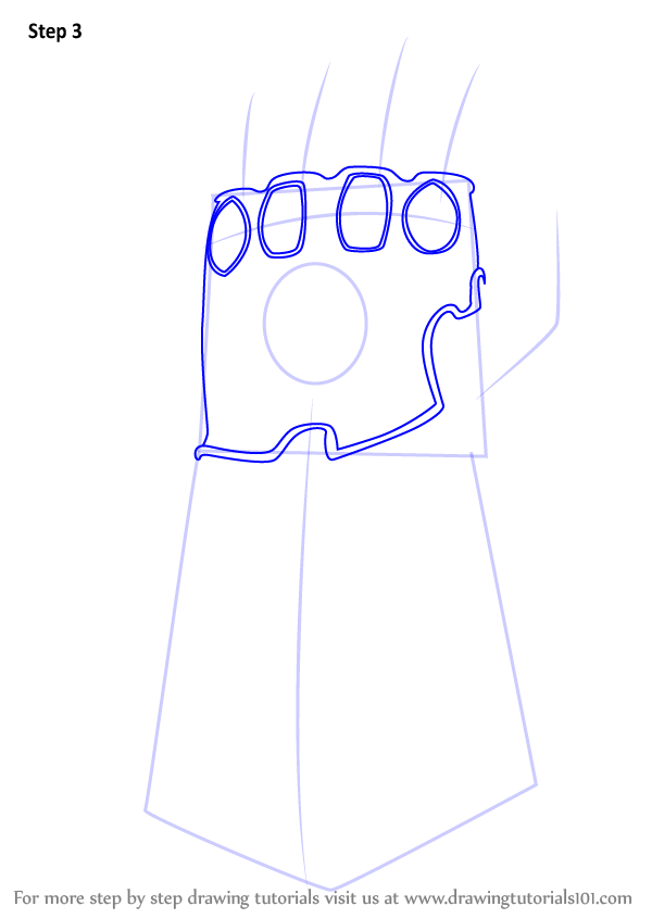 Learn How to Draw The Infinity Gauntlet from Avengers - Infinity War