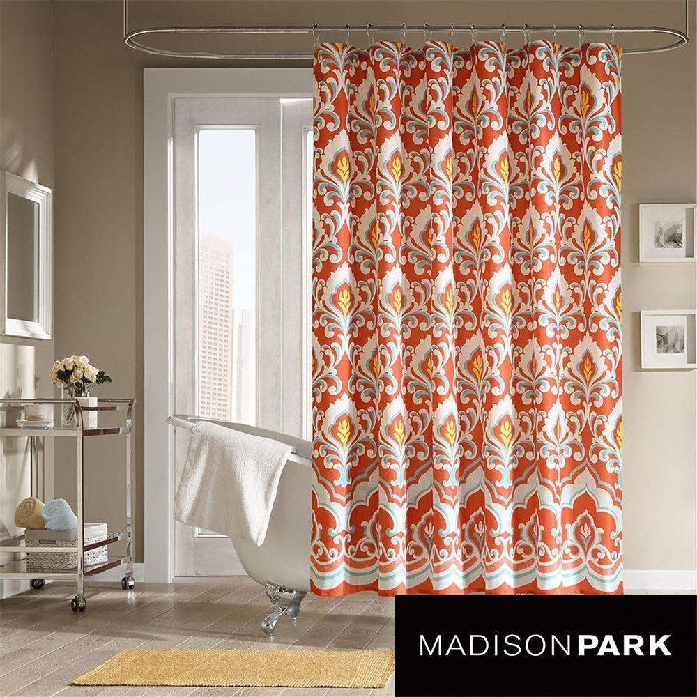Mizone portia microfiber shower curtain overstock shopping