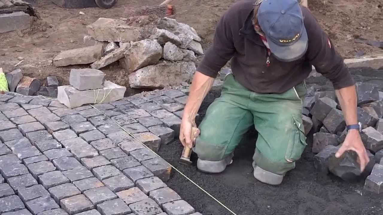 Basalt Pflastersteine Verlegen