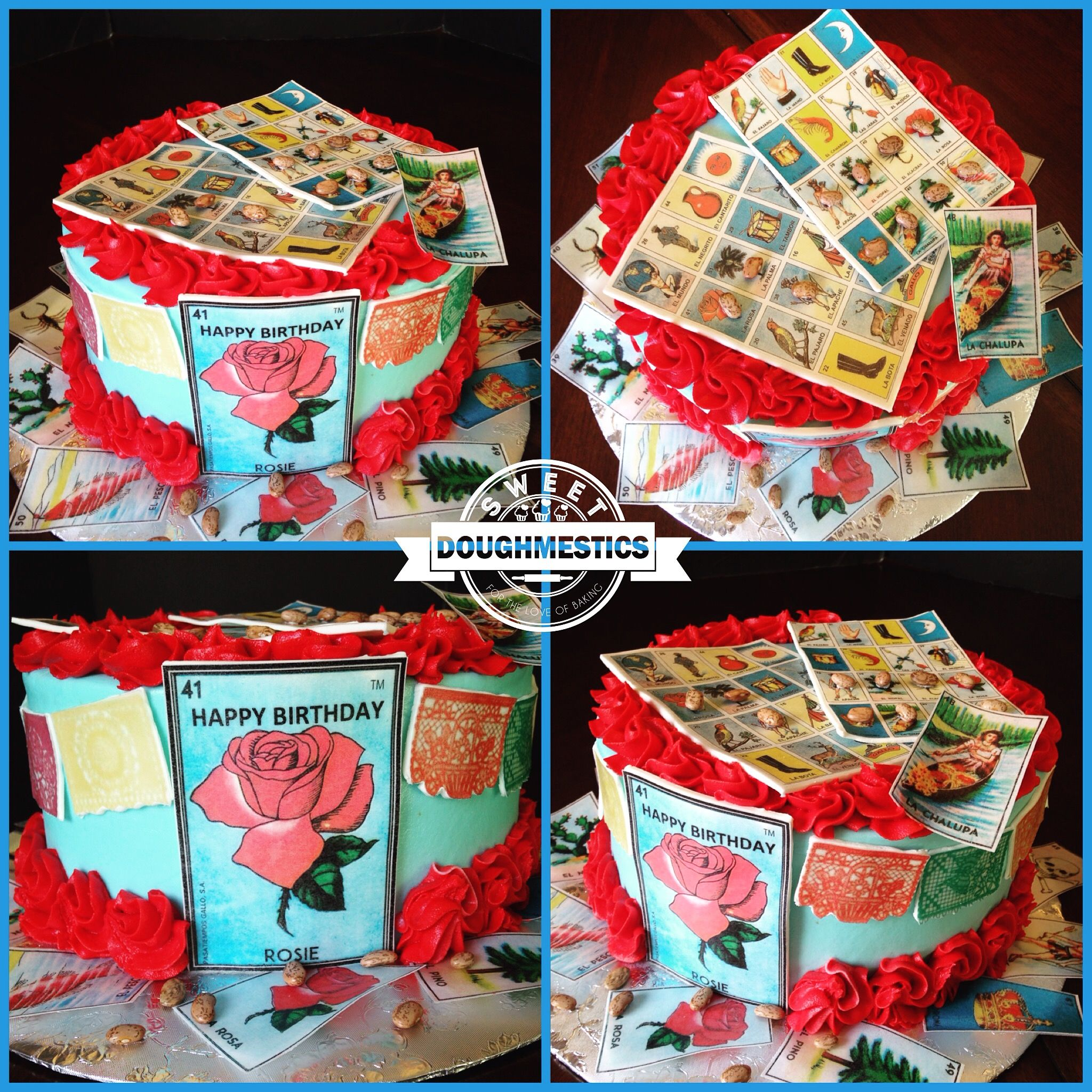 Offer Up Phoenix >> Mexican Loteria Cake by Sweet Doughmestics | Sweet ...