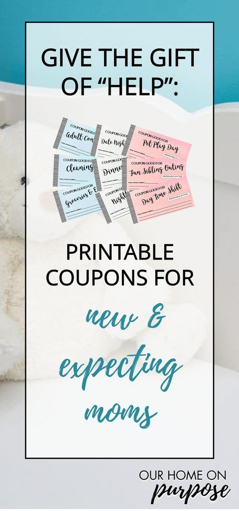 Give the Gift of Help Printable Coupons for New  Expecting Moms