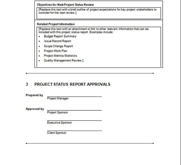 A Project Status Report is a sort of Project Report used by project - project report