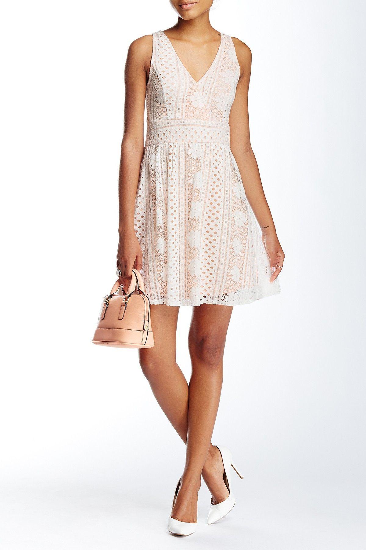 2 piece crop top wedding dress  Soieblu  Crochet Lace Fit u Flare Dress  HauteLook  Dream