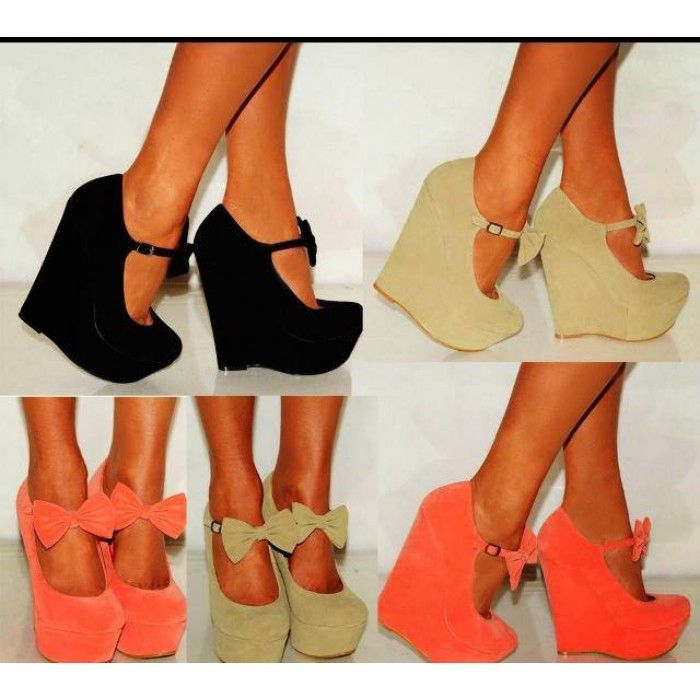wedges heels - Google Search | Shoes4 | Pinterest | Wedges and ...