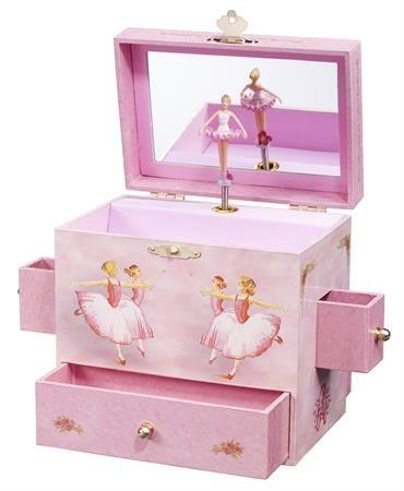 GIRLS PINK FAIRY /& BUTTERFLY MUSICAL JEWELLERY /& TRINKET BOX SPINNING BALLERINA