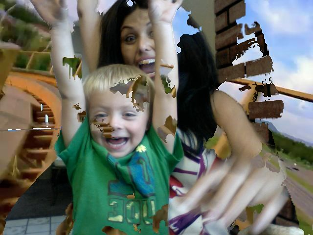YEYYY riding a roller coaster :)