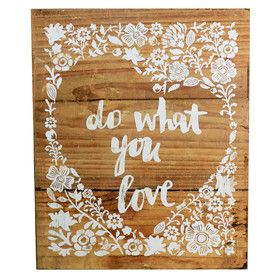 Sign Do What You Love | 40x48cm | Shabby Chic @ The Home