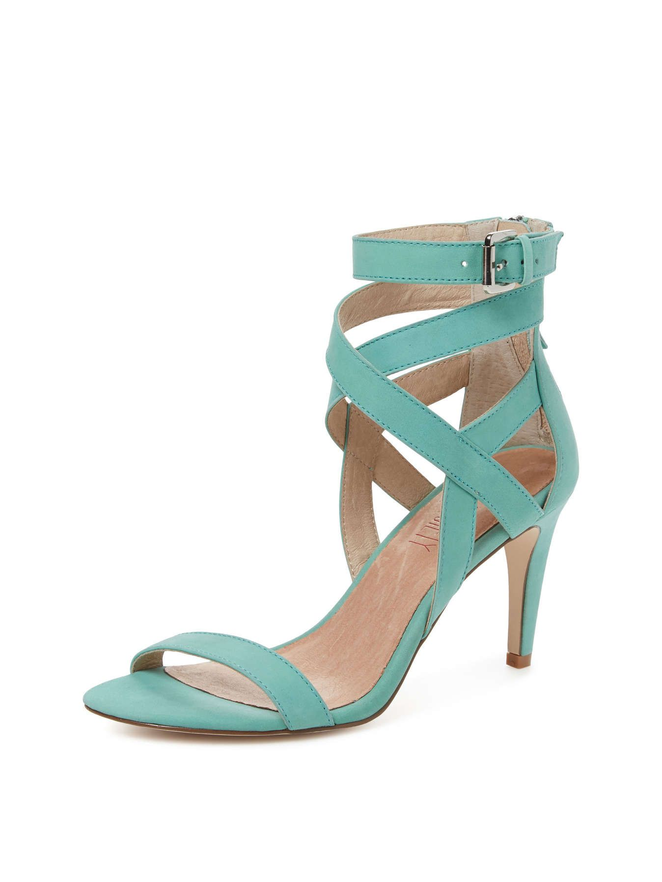 Giselle Criss Cross Ankle Mid Heel Sandal -- Perfect shoes for  Michiru Sailor Neptune!