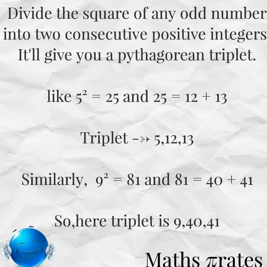 Pythagorean Triples A Simple Trick To Easily Find Some