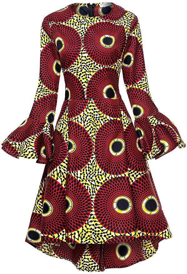 Elegant Ankara Print Dress & African Dress Styles #africandressstyles
