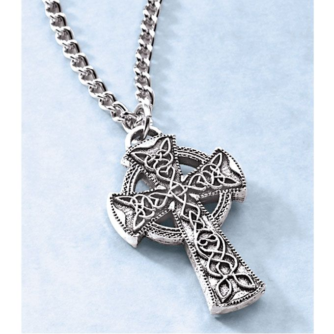 Mens celtic cross necklace gifties for sean pinterest mens celtic cross necklace mozeypictures Choice Image