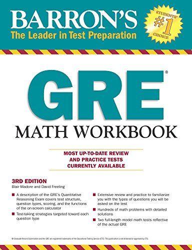 Barron\'s GRE Math Workbook, 3rd Edition: Blair Madore, David ...