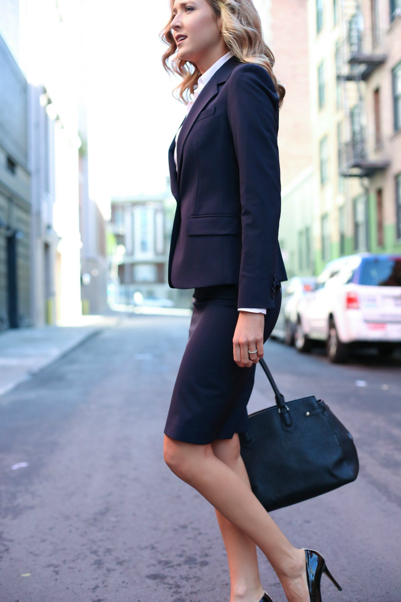 Pencil Skirt And Blazer For Work Mode Pinterest
