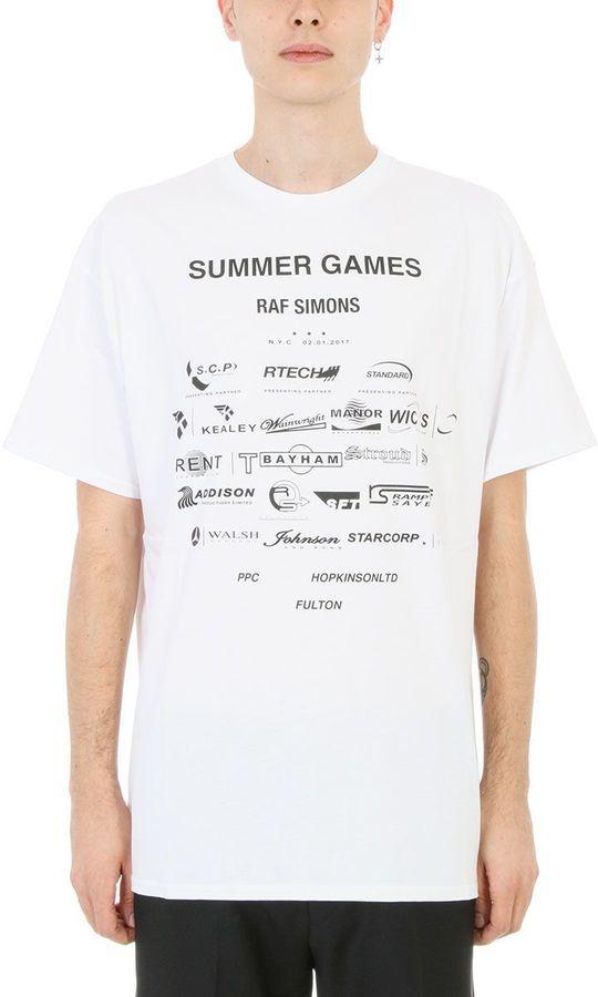 f4503cb7593e Raf Simons Summer Games White Cotton T-shirt