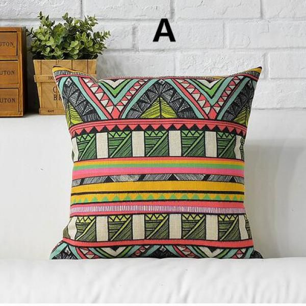 Abstract geometric throw pillow for home decoration bohemian style