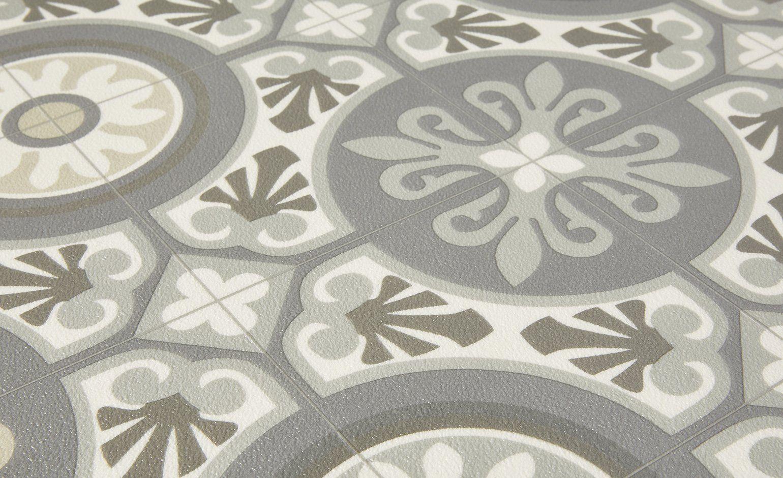 Entretien Carreaux Ciment Anciens sol vinyle summertex carreau de ciment gris beige, rouleau