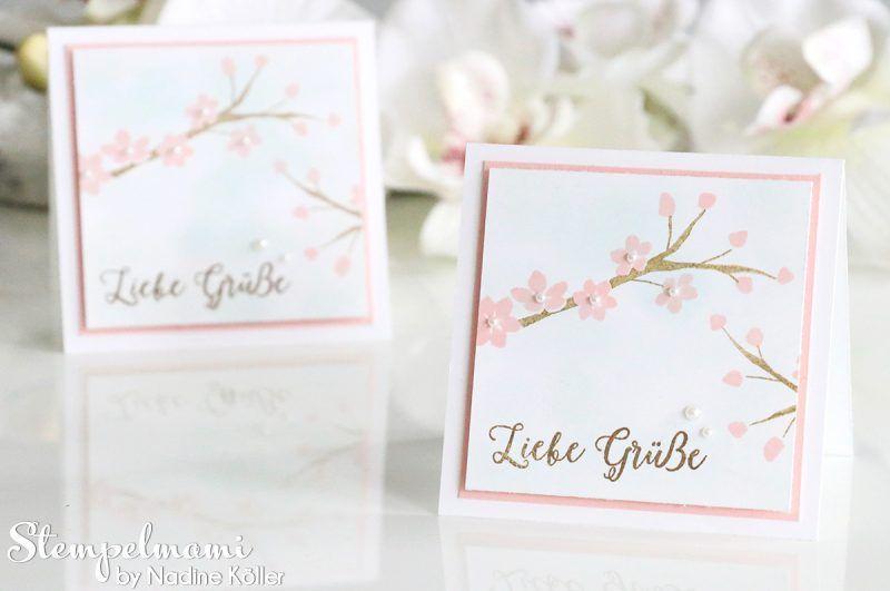 Stampin Up - Grusskarte - Mini Karten - Minicard - Dankeskarte ...