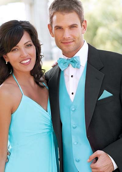 Calvin Klein Radnor Tuxedo with Turquoise accessories for Weddings ...