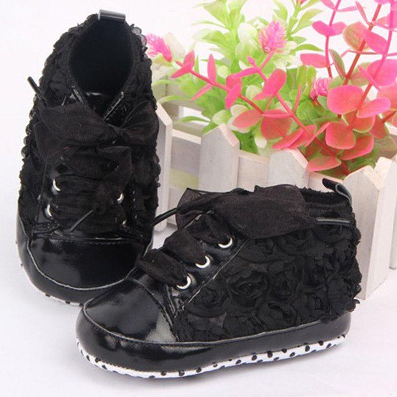 $2.76 (Buy here: http://appdeal.ru/60j2 ) Baby Girls Shoes Soft Soled Walking Shoes Infants Rose Flower Prewalker 0-12 M for just $2.76