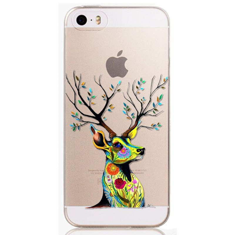 New Arrival Phone Skin for iPhone 5 5S Beautiful Flowers TPU soft Phone Skin Cover