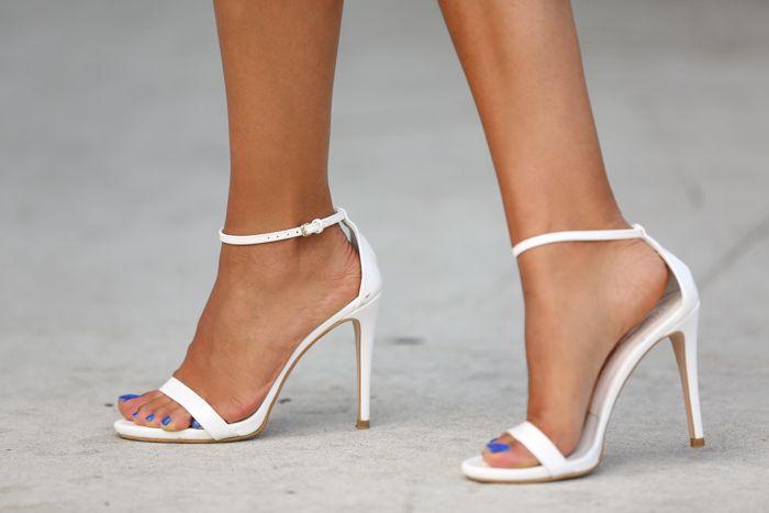 White Sandals | White strappy heels