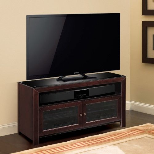 BellO 50 in. TV Stand - Deep Mahogany, As Shown
