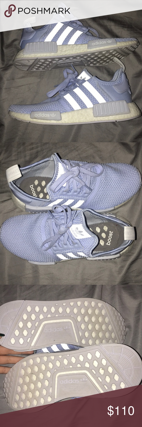 newest 180ae b3964 Adidas NMD Aero Blue Cloud White Adidas NMD. Worn twice ...