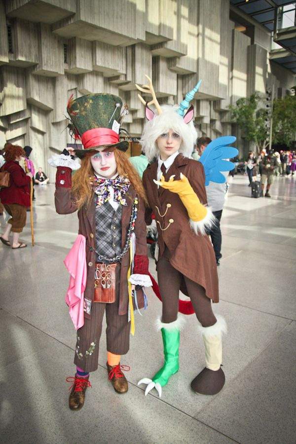 The Mad Hatter And Discord From My Little Pony At Eccc Alice